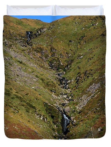 Annascaul Mountains Duvet Cover by Barbara Walsh