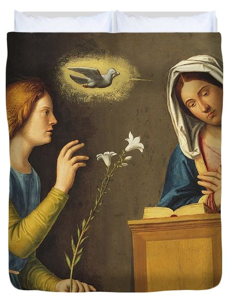 Annunciation To The Virgin Duvet Cover