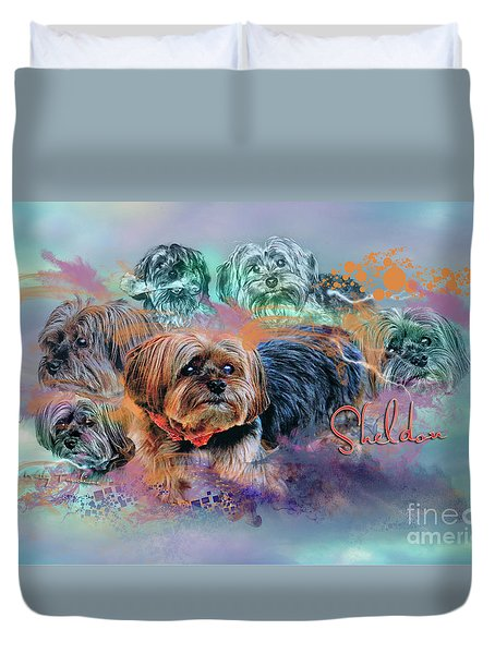 Duvet Cover featuring the digital art Another Birthday 112 Years by Kathy Tarochione