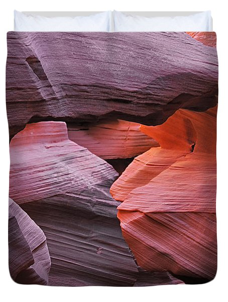 Antelope Canyon - Canvas For Nature's Compositions Duvet Cover by Christine Till
