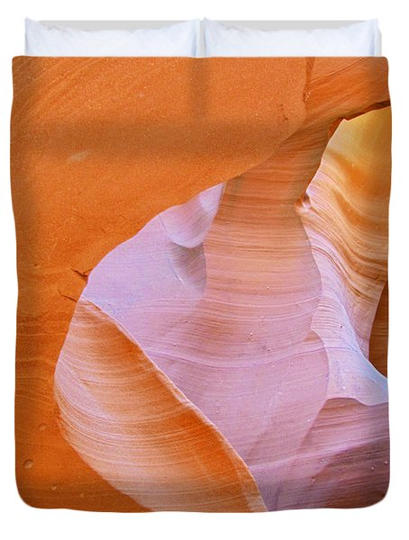 Antelope Canyon - Magnificent Play Of Light And Color Duvet Cover by Christine Till