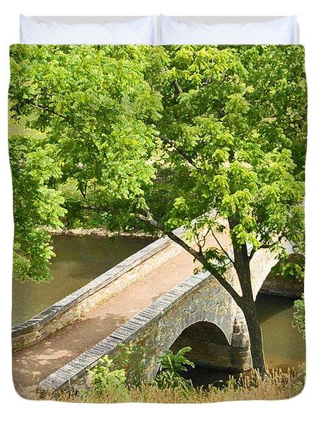 Duvet Cover featuring the photograph Antietam's Burnside Bridge by Cindy Manero
