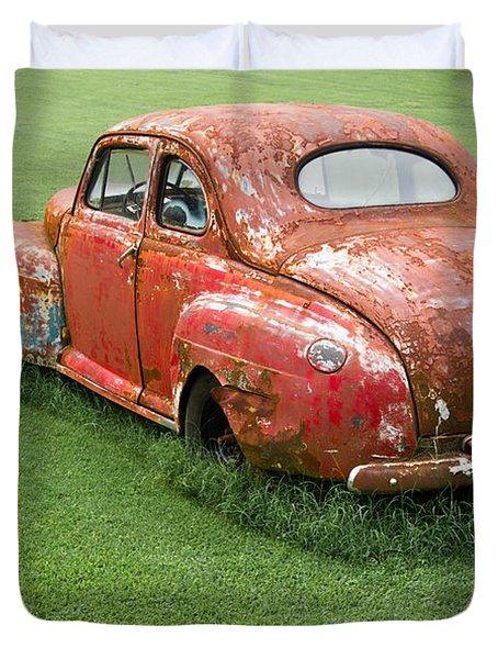 Antique Ford Car 5 Duvet Cover by Douglas Barnett