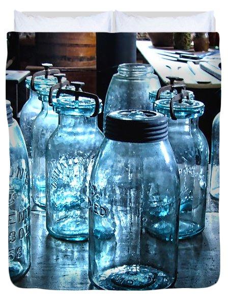Antique Mason Jars Duvet Cover by Mark Sellers