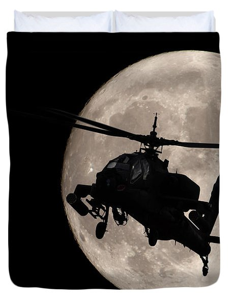 Apache In The Moonlight Duvet Cover