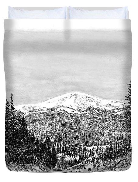Apache Summit Siera Blanco Duvet Cover by Jack Pumphrey