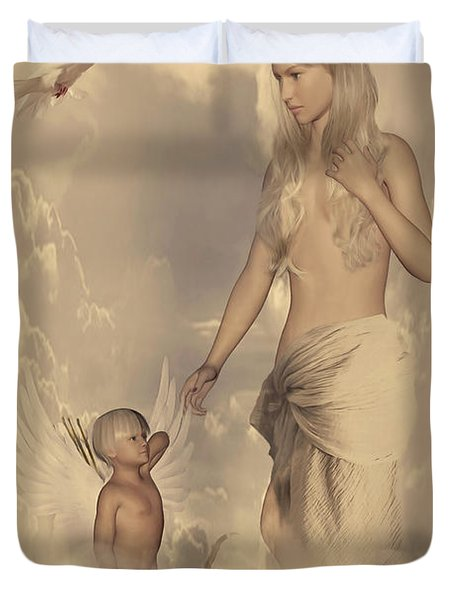 Aphrodite And Eros Duvet Cover