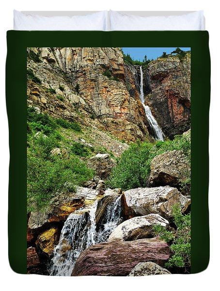 Apikuni Falls Duvet Cover by Greg Norrell