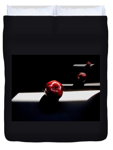 Apple Still Life 1 Duvet Cover by Cedric Hampton