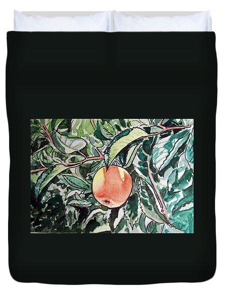 Apple Tree Sketchbook Project Down My Street Duvet Cover by Irina Sztukowski