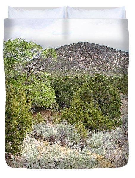 April New Mexico Desert Duvet Cover
