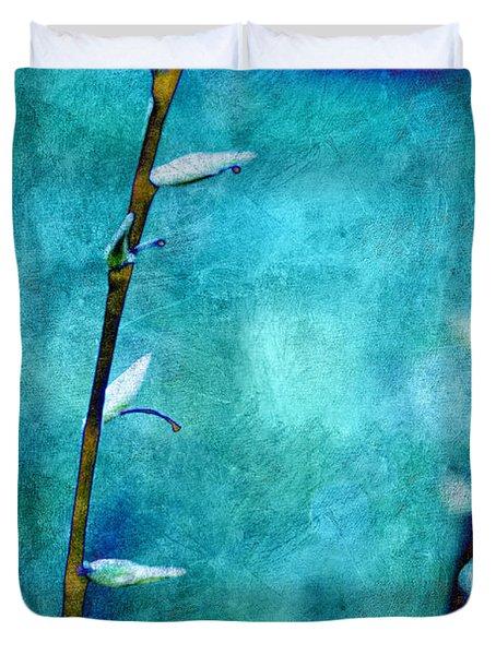 Aqua And Indigo Duvet Cover by Aimelle