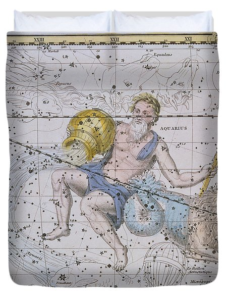 Aquarius And Capricorn Duvet Cover by A Jamieson
