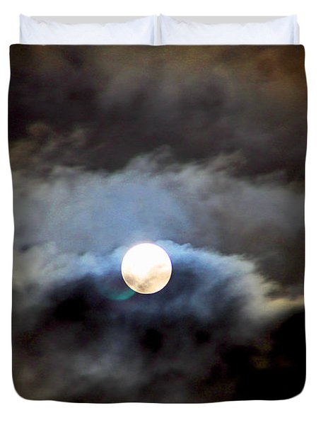 Aquarius Full Moon Duvet Cover