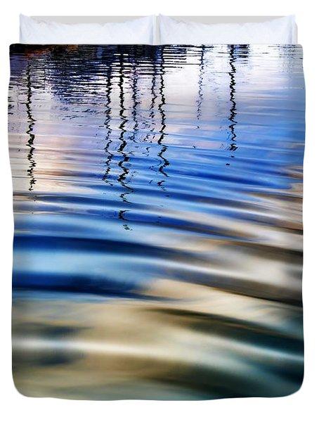 Aquatic Reflections Duvet Cover by Mariola Bitner