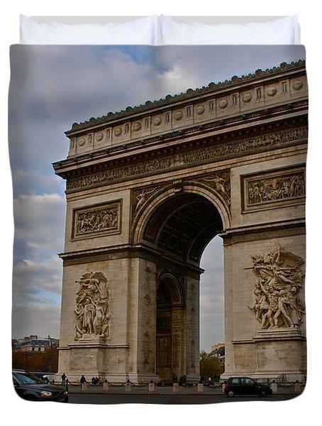 Duvet Cover featuring the photograph Arc De Triomphe by Eric Tressler