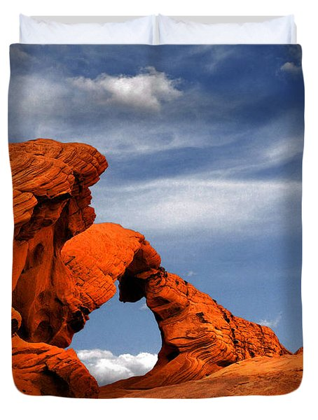 Arch Rock - Amazing Show Of Nature Duvet Cover by Christine Till