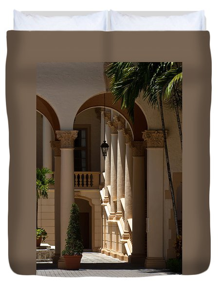 Duvet Cover featuring the photograph Arches And Columns At The Biltmore Hotel by Ed Gleichman