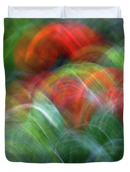 Arches Of Flowers Duvet Cover