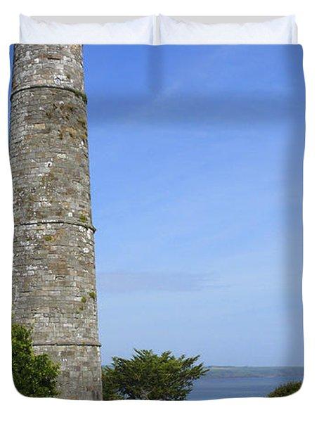 Ardmore Round Tower - Ireland Duvet Cover by Mike McGlothlen