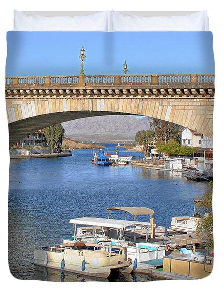 Arizona Import - Iconic London Bridge Duvet Cover by Christine Till