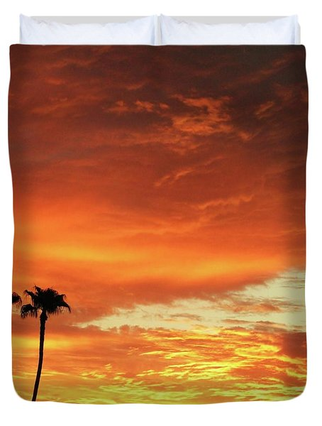 Duvet Cover featuring the photograph Arizona Sunrise 02 by Rand Swift