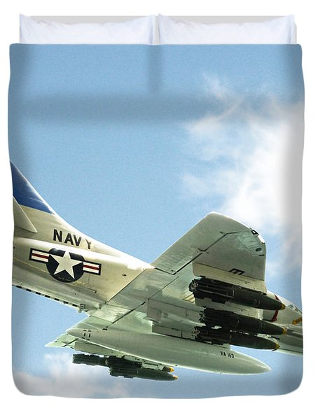 Armed And Dangerous Duvet Cover by Methune Hively