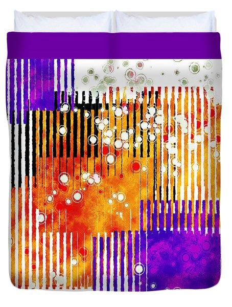 Art Deco Style Patterns Duvet Cover by Susan Leggett
