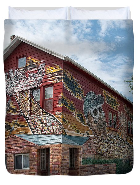 Art House South Chicago Mural Duvet Cover