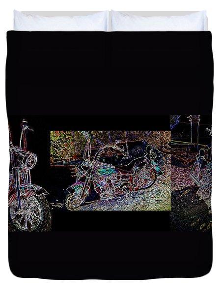 Artistic Harley Montage Duvet Cover