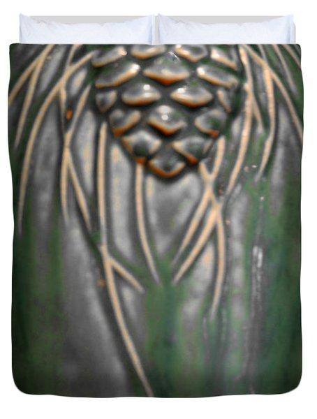 Artistic Pine Cone Vase Duvet Cover by LeeAnn McLaneGoetz McLaneGoetzStudioLLCcom