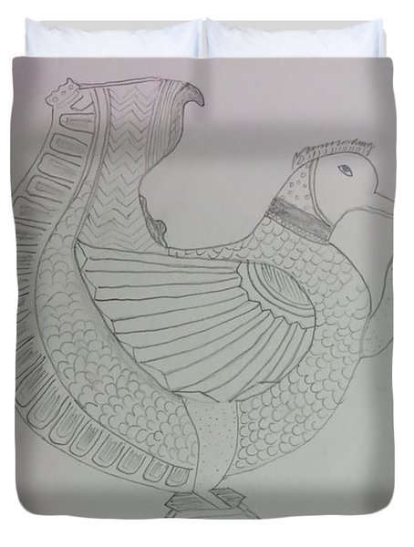 Duvet Cover featuring the painting Artistic Teapot by Sonali Gangane