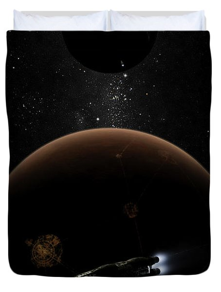 Artists Concept Illustrating The Laws Duvet Cover by Brian Christensen