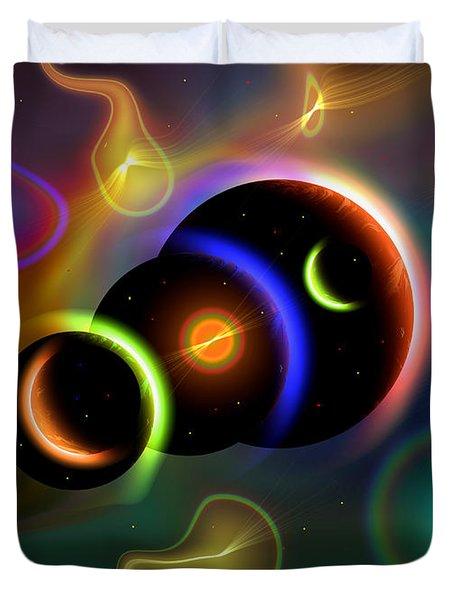 Artists Concept Of Cosmic Portals Duvet Cover by Mark Stevenson