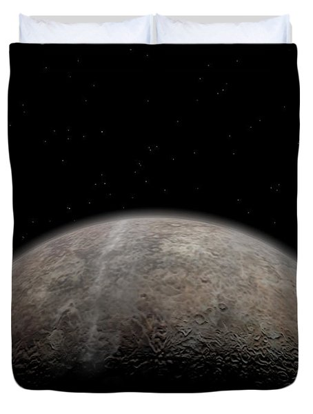 Artists Concept Of Pluto Duvet Cover by Walter Myers