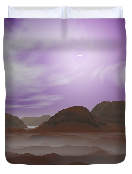Artists Concept Of The Atmosphere Duvet Cover by Walter Myers
