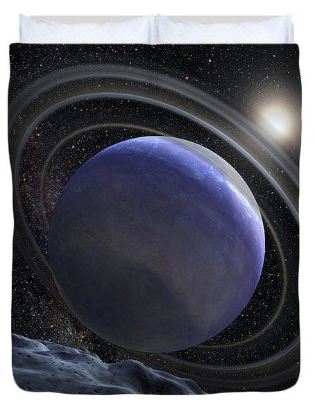 Artists Illustration Of An Extrasolar Duvet Cover by Stocktrek Images