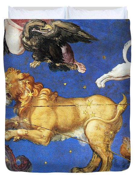 Artwork In Villa Farnese, Italy Duvet Cover by Photo Researchers