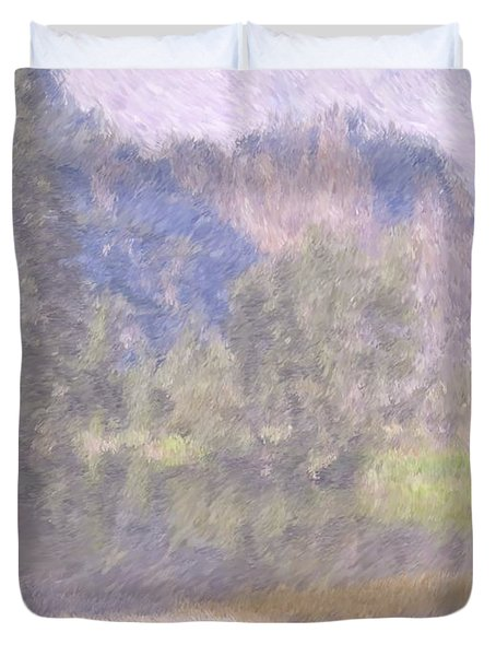 As If Monet Painted Yosemite Duvet Cover by Heidi Smith