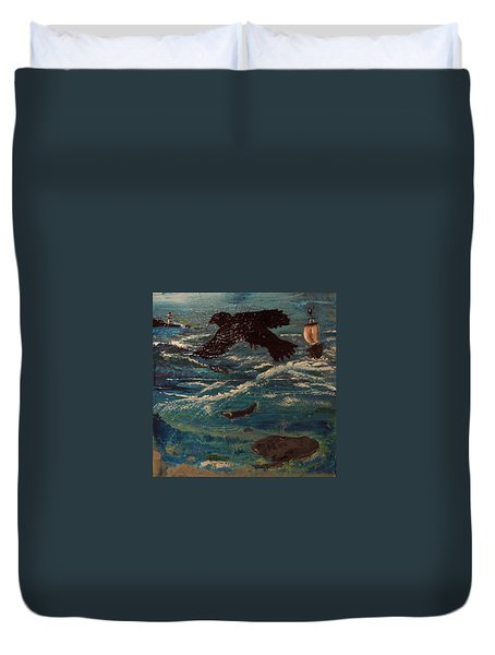 As The Crow Flys Duvet Cover