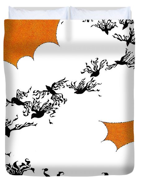 As The Crows Fly Duvet Cover