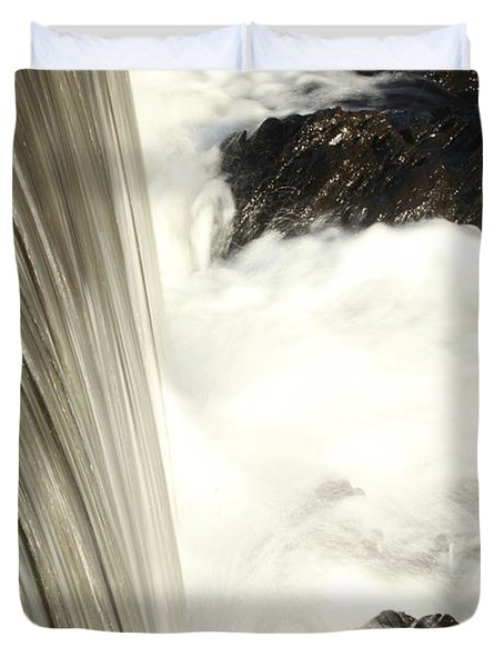 As The Water Falls Duvet Cover by Karol Livote