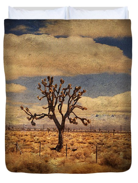 As We Go Down Life's Lonesome Highway Duvet Cover by Laurie Search