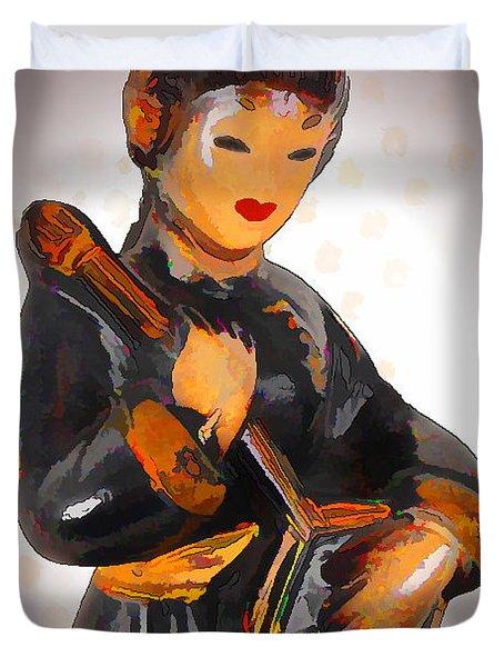 Asian Beauty Minstrel Duvet Cover by Kathy Clark