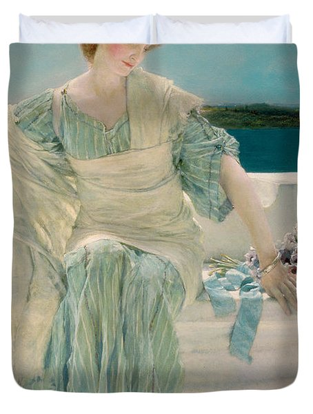 Ask Me No More Duvet Cover by Sir Lawrence Alma-Tadema