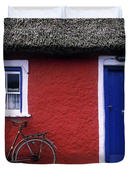 Askeaton, Co Limerick, Ireland, Bicycle Duvet Cover by The Irish Image Collection