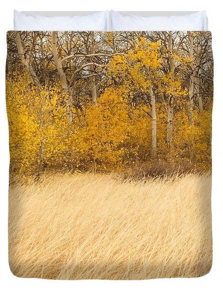 Aspen And Grass Duvet Cover