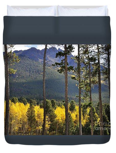 Duvet Cover featuring the photograph Aspen Heaven Long's Peak Area by Nava Thompson