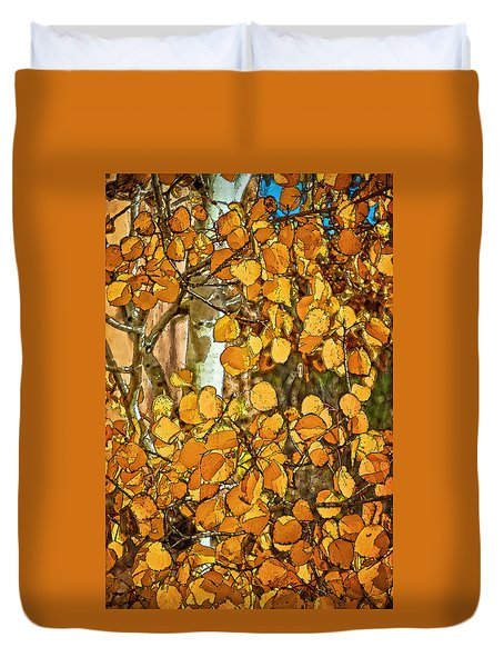 Aspens Gold Duvet Cover