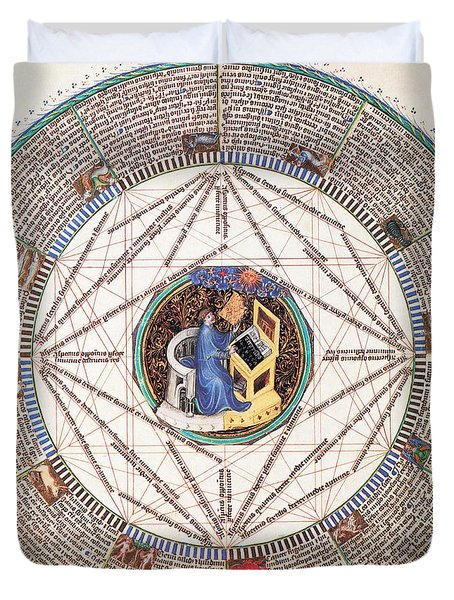 Astrologer In The Zodiac Duvet Cover by Science Source